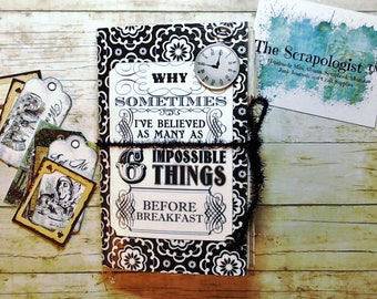 Junk Journal | Alice in Wonderland theme