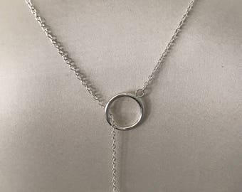 Necklace in 925 Silver with large toggle clasp
