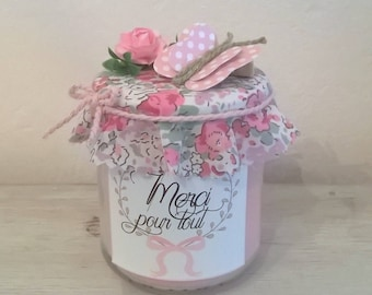 """""""Thanks for everything"""" pink candle on liberty"""