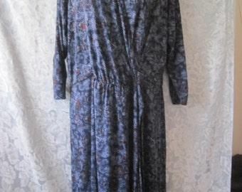 Vintage hippie boho lucky brand wrap dress XL