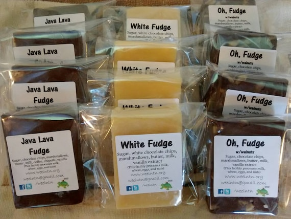 Salted Fudge, 1 lb Fudge, Fudge Gift, Fannie Mae Fudge, Fudge Birthday Gift, Plain Fudge