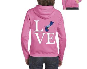 Love Guam  Women Full-Zip Hooded Sweatshirt