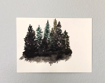 Rocky Point Silence, 11x15 Watercolor