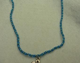 Set chain, bracelets, ring in blue