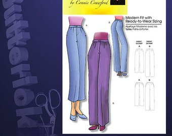 OOP Misses Pants by Connie Crawford Sewing Pattern Butterick 5222 Size 3-14 UNCUT