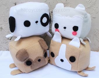Dog Animal Plush - Kawaii Plushie , Cute Stuffed Animal, Children Softie, Children's Toy, Husky, Corgi, Pug, Christmas Gift