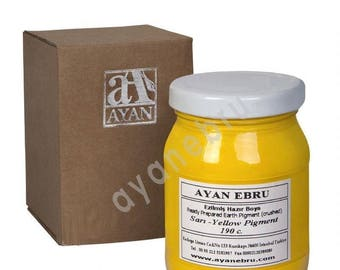 Ebru Marbling Paint Colors-Pigment Yellow (Ayan)