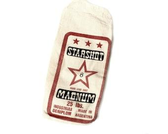 Vintage Canvas Starshot Magnum Hard Lead Shot Bag