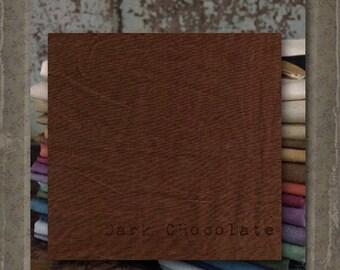 Fabric 1 YARD: Over-dyed Aged Muslin Cloth (New) - Dark Chocolate NEW! Color0113 Marcus Fabrics