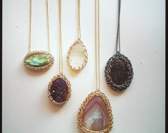 Custom Netted Pendant, Shop Etsy for Your Favorite Stone