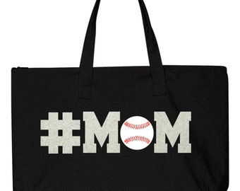 Baseball Mom Tote Bag, Softball Mom Tote Bag