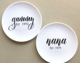 Personalized Ring Tray, Mother's Day, Gammy, Nana, Nonni, Grandma, Mimi