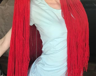 Arial inspired yarn wig