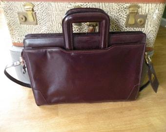 Vintage brief case, lap top holder, Attache case