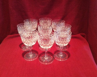 """Stuart of England Crystal Claret, Port or Wine Glass 4.5"""" Tall and 2.5"""" diameter at rim"""