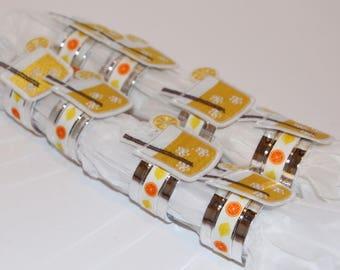 Lemonade Napkin Rings Set of 8