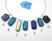 Dichroic glass pendant, s...