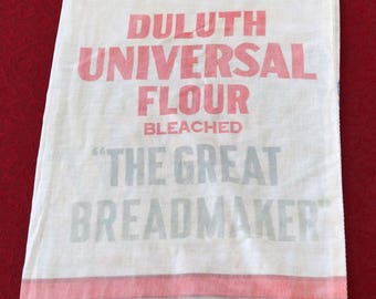 1940's Vintage Flour Sack, Duluth Universal Flour Mill
