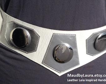 Princess Leia replica Cosplay belt quality Leather
