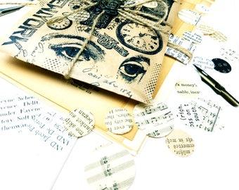 Vintage Paper Circles / Vintage Paper Punches / Vintage Paper / Paper Embellishments / Junk Journal / Ephemera Paper / Paper Dots