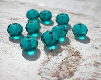 ABACUS 8 mm Light Emerald beads X 10
