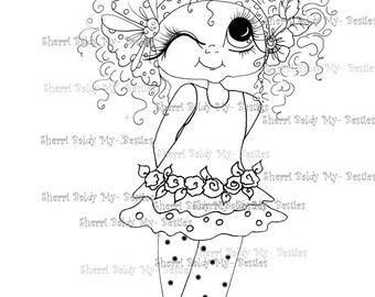 INSTANT DOWNLOAD Digital Digi Stamps Big Eye Big Head Dolls Digi Fancy Pants Little  Winky Bestie By Sherri Baldy