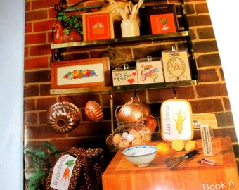 Kitchen Potpourri, June Grigg Cross Stitch Design, Book 6, Sugar, Flour, Coffee Cannister, Fruit, Recipe for Living, Kitchen Closed (664-15)