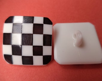 17 mm (2340) button 9 BUTTONS white black