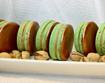 1 Dozen Pistachio Macarons (Made with real Pistachios)