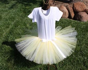 Yellow and White Tutu Skirt, yellow skirt, yellow tulle skirt, yellow tutu, yellow and white tutu, white tutu, yellow