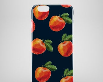 Peaches Print iPhone 6 Case, iPhone 6 Plus Case, iPhone 5 Case, iPhone 5S Case, iPhone 5C Case, iPhone SE Case,  iPhone 6s case