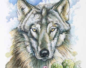 Mexican Gray Wolf - Wildlife Greeting Card / FREE SHIPPING!