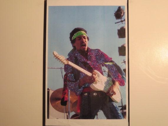Glittered Poster - Jimi Hendrix