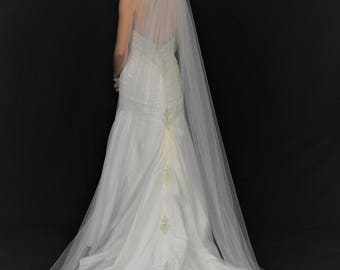 "Luxury 108"" Cathedral Veil with Rhinestone Edge"