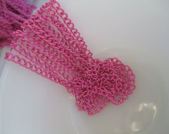 NEW item 5 Feet Enamel chain PINK 60 inches Link5mm x 3.5mm Size--S