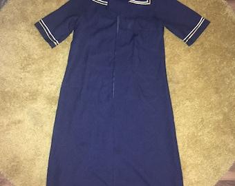Sailor style 60's vintage Dress Size 12