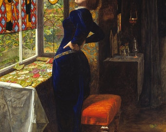Mariana by John Everett Millais, in various sizes, Canvas Giclee Print