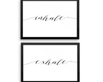 Inhale | Exhale Printable Set