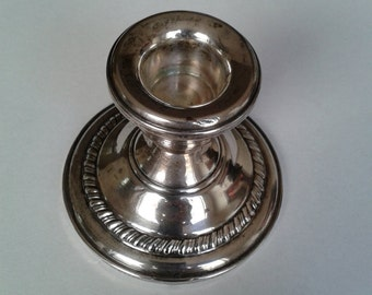 Vintage Sterling Silver Candle Stick Holder