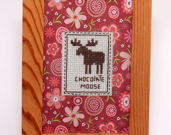 Framed chocolate moose