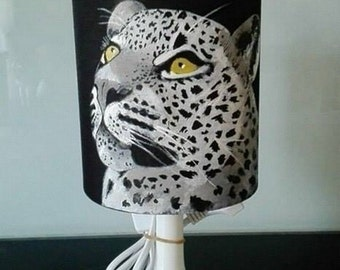animal leopard lamp hand painted