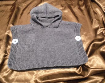 Poncho hooded Blue Jean baby size 0/3 months