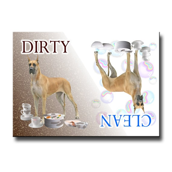 Great Dane Clean Dirty Dishwasher Magnet No 3