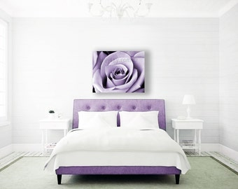 Purple Wall Art, Large Canvas Art, Mauve, Bedroom Wall Art, Purple Decor, Modern