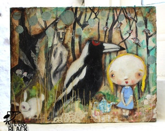 Alice Down Under, 2011 mixed media painting