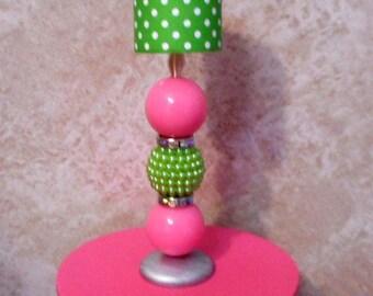 Barbie Green Polka Dot Lamp