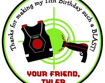 Laser Tag Birthday Party Sticker laser Tag Party Sticker Laser Tag Birthday Party
