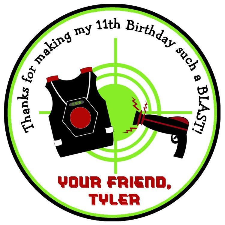 Laser Tag Birthday Party Sticker laser Tag Party Sticker Laser