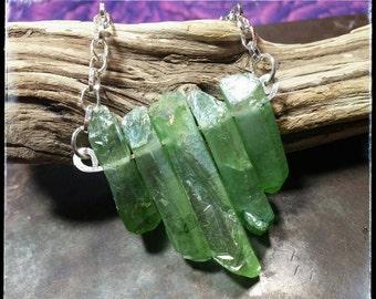 Green Aurora Borealis Crystal Pendant