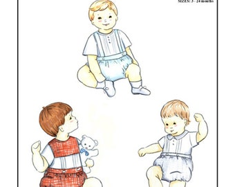 Boys / Boy's Bubble / Classic Boy's Suit / Boy's Christening / The Waisted Bubble Pattern for Boys /  by Michie #107